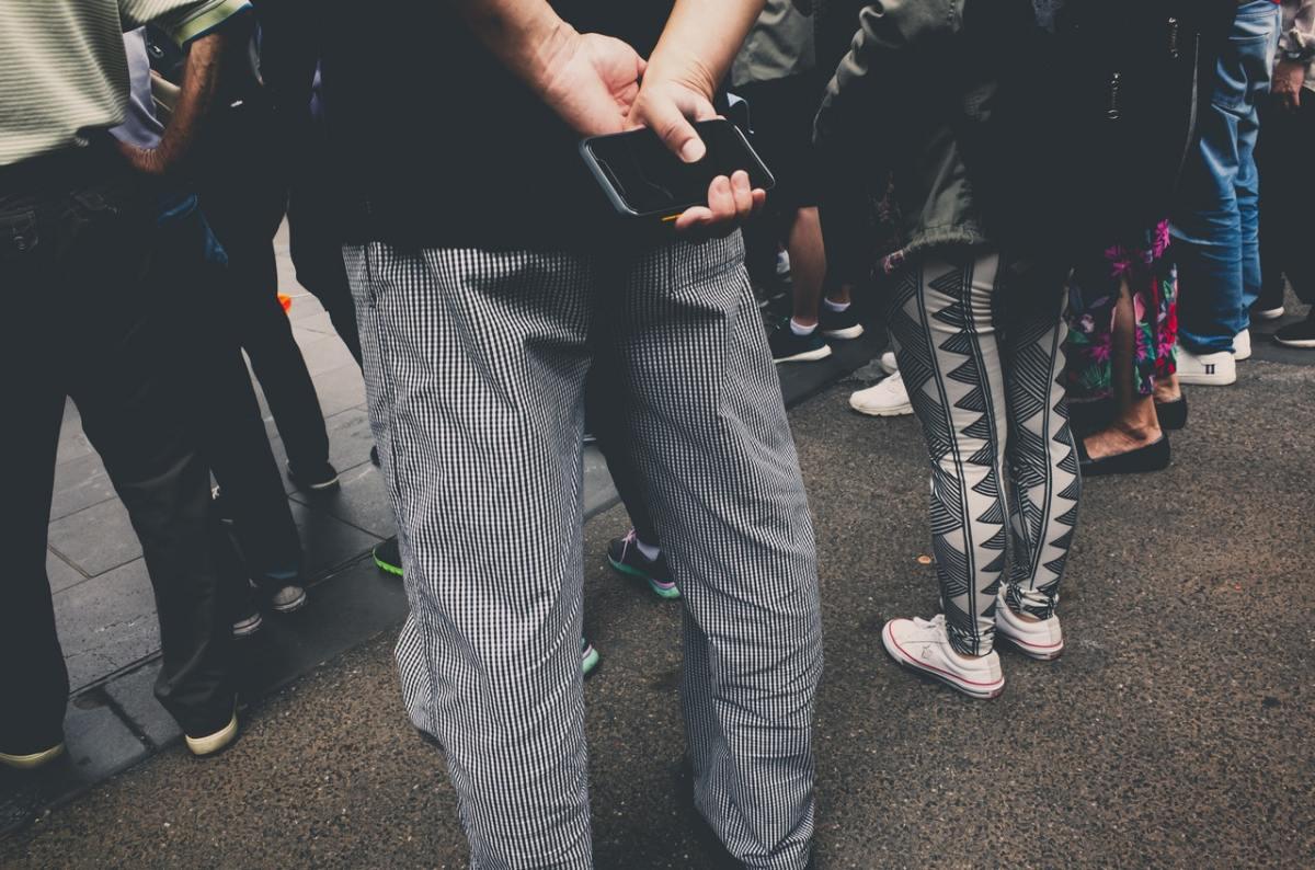 people standing around