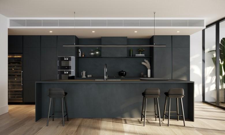 Seafarers Residences' kitchen with sn
