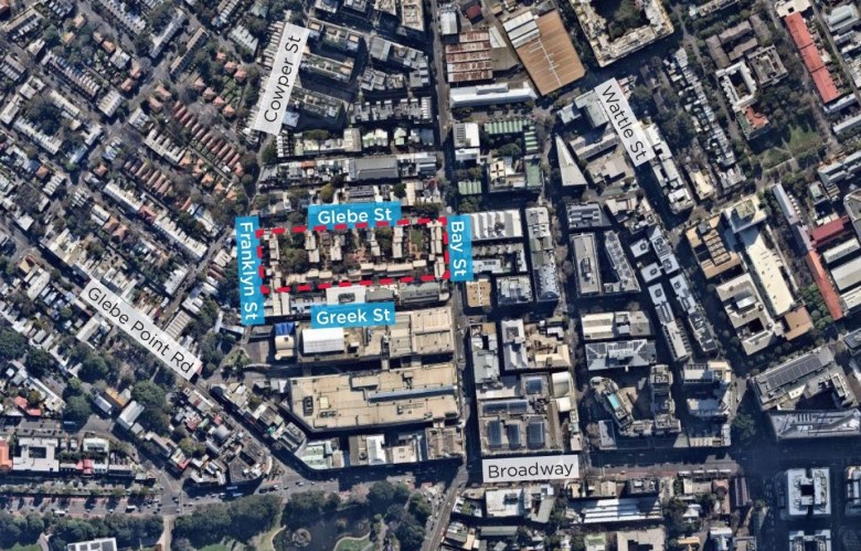 housing estate glebe map