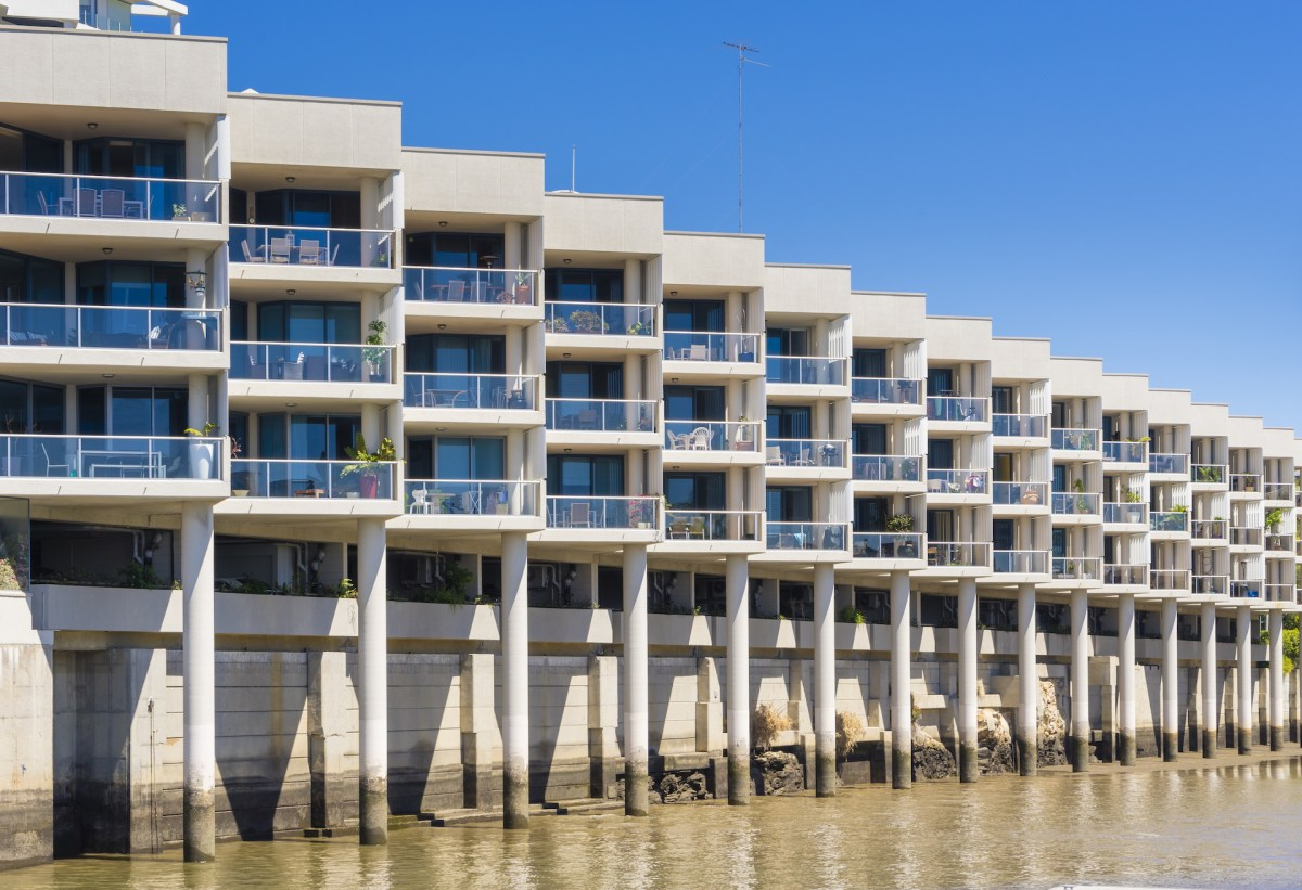 Modern waterfront apartments in Brisbane