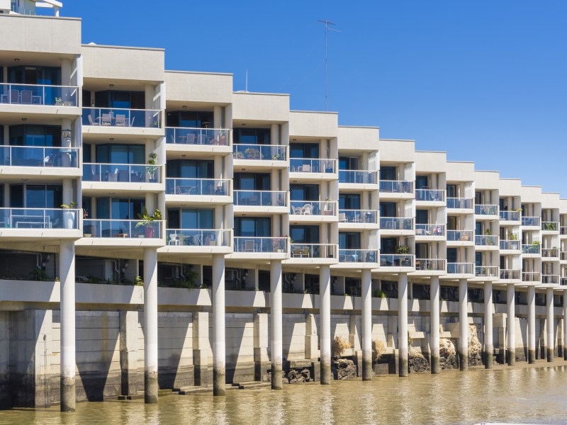 Modern waterfront apartments in Brisbane