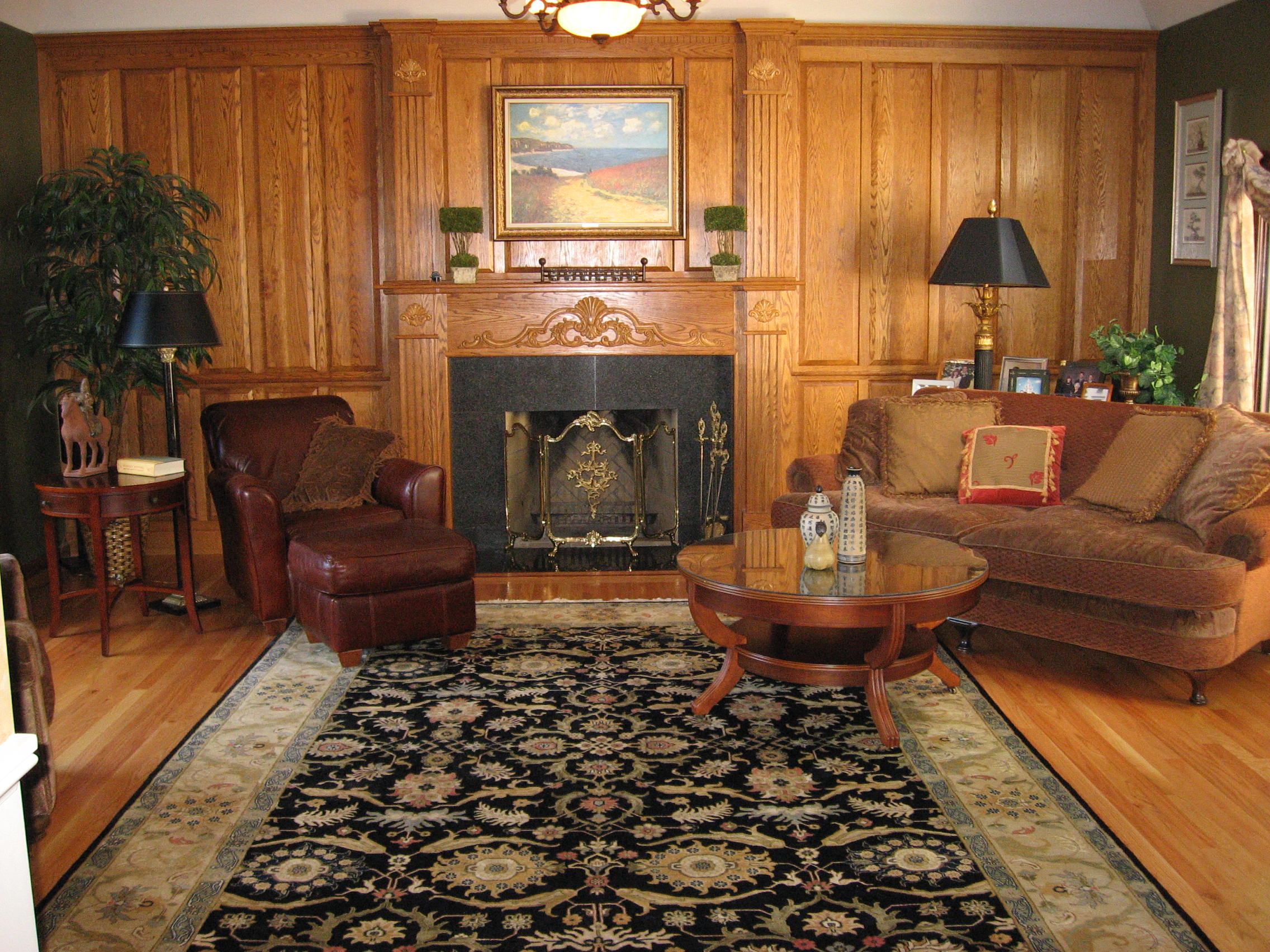decorating my living room grey and red curtains with antiques heirlooms - fifty plus life