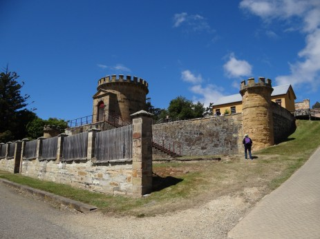 The guard towers.