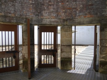 Doorways to the separated exercise yards.