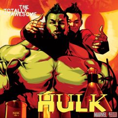 Totally Awesome Hulk #1 variant cover by Mahmud Asrar