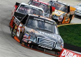 2012 Martinsville March NASCAR Camping World Truck Series Paulie Harraka on track