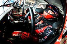 2012 NASCAR Martinsville March Tony Stewart in car