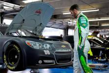 2012 CMS Testing Dale Earnhardt Jr In Garage