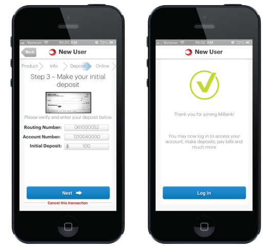 Consumers Can Open Checking Accounts With Smartphone Cameras