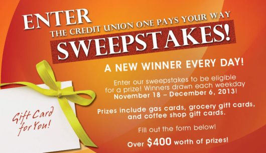 Credit Unions Pay Your Way Facebook Fan Appreciation Sweepstakes