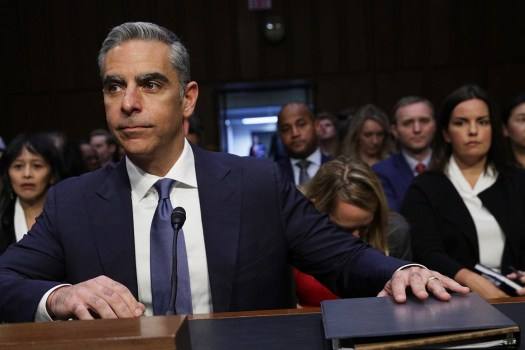 David Marcus, Head of Calibra, at a Senate Banking Committee hearing discussing Facebook's planned Libra currency.