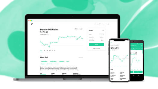Robinhood Investing on mobile or online.