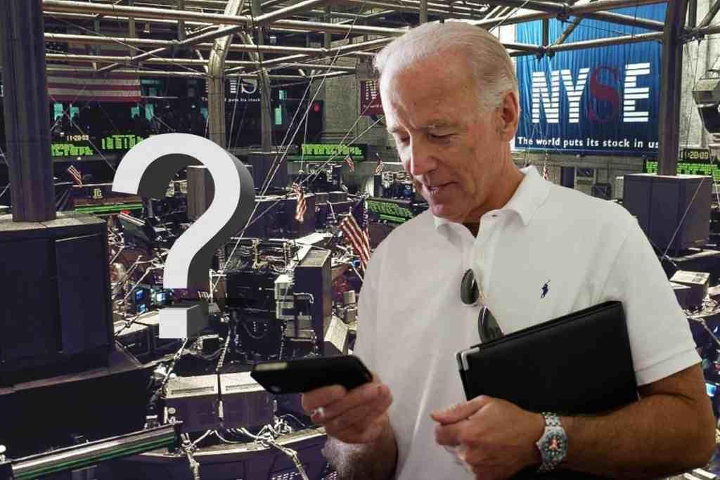 Image of Joe Biden and will he crash the stock market
