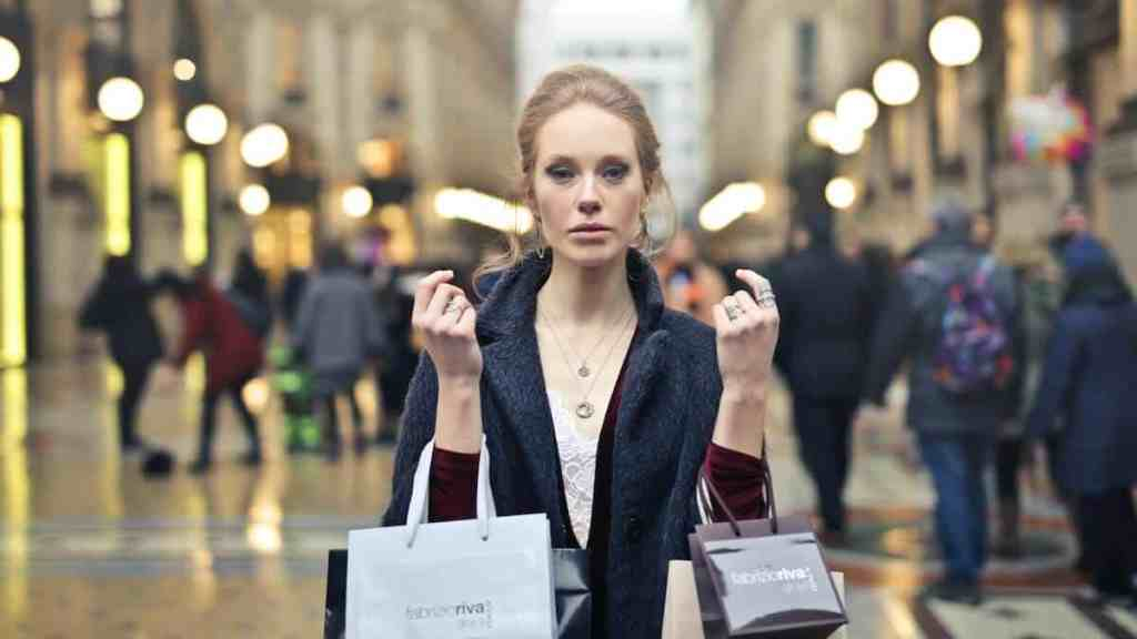 a shopper coping with an emotional spending addiction in milan italy