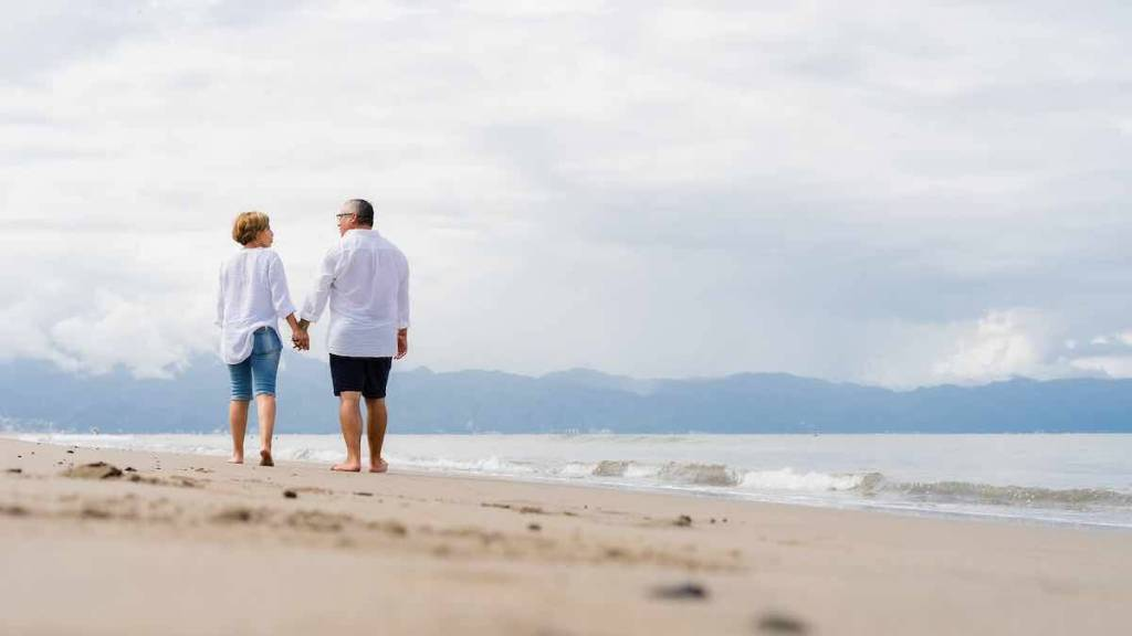 retired couple talking about dividend aristocrats