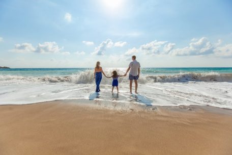 A family having a great value holiday at the beach