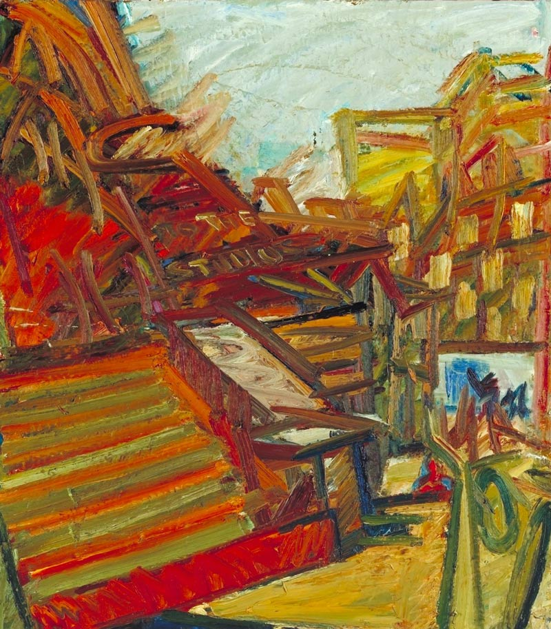 All the paintings are a result of crisisFrank Auerbach A