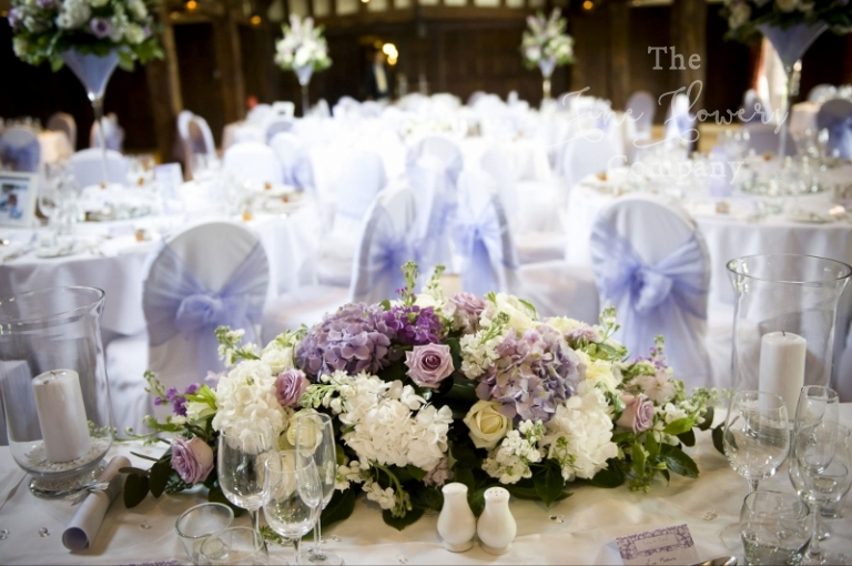 Beautiful Ivory And Lilac Wedding Flowers At Great Fosters