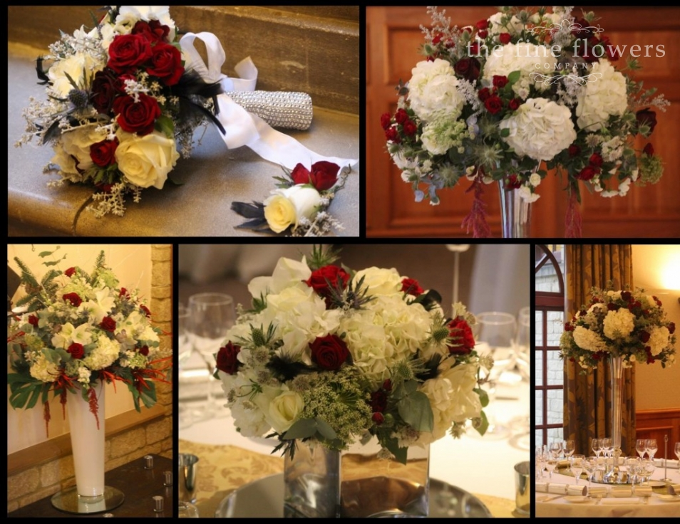 Art Deco Winter Wedding Flowers At Pennyhill Park » The