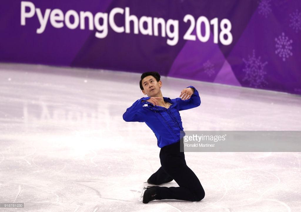 Sports figure oops skating