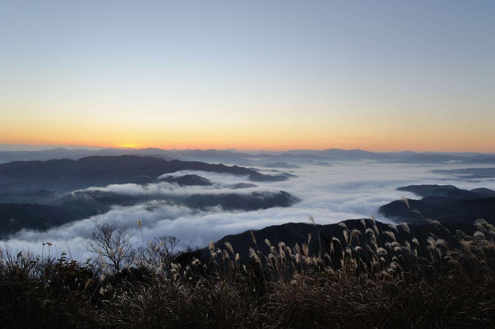 Mt Kuruhi, Kinosaki Onsen, Visit Kinosaki, Japan, Spa town, view, sea of cloud,