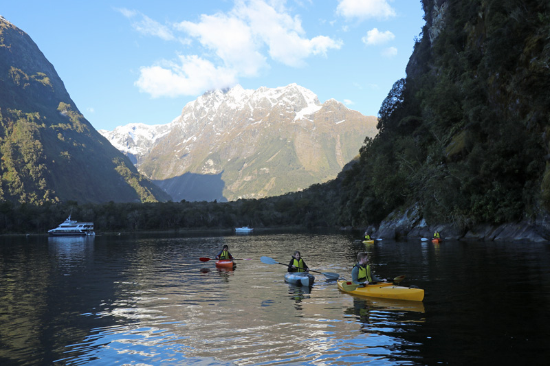 Fiordland Discovery, Milford Sound, New Zealand, South Island, kayaking Milford Sound