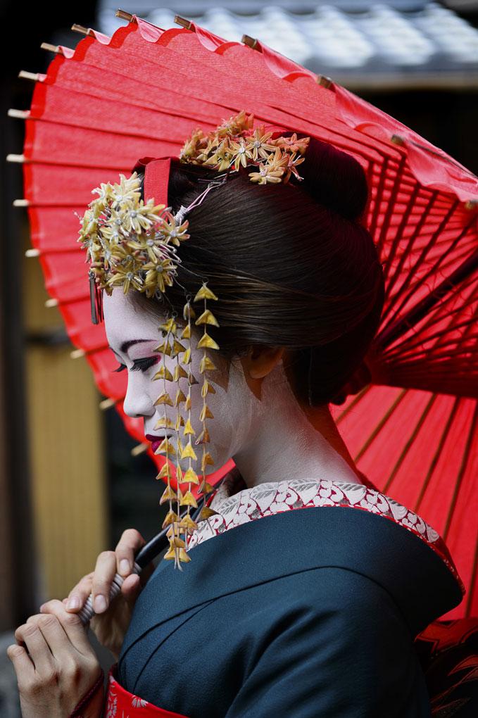Geisha, Kyoto, Japan, Portraits, Blue Dog Photography
