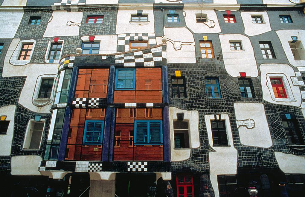 Hundertwasser House, Vienna, Wien, Austria, Austrian architecture