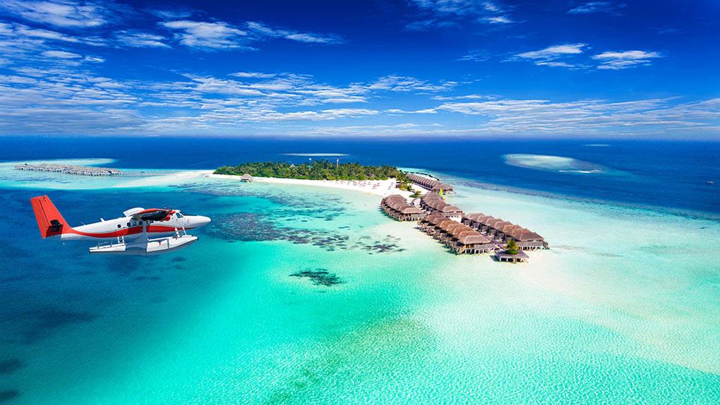 Maldives, seaplane, tropical island, luxury travel