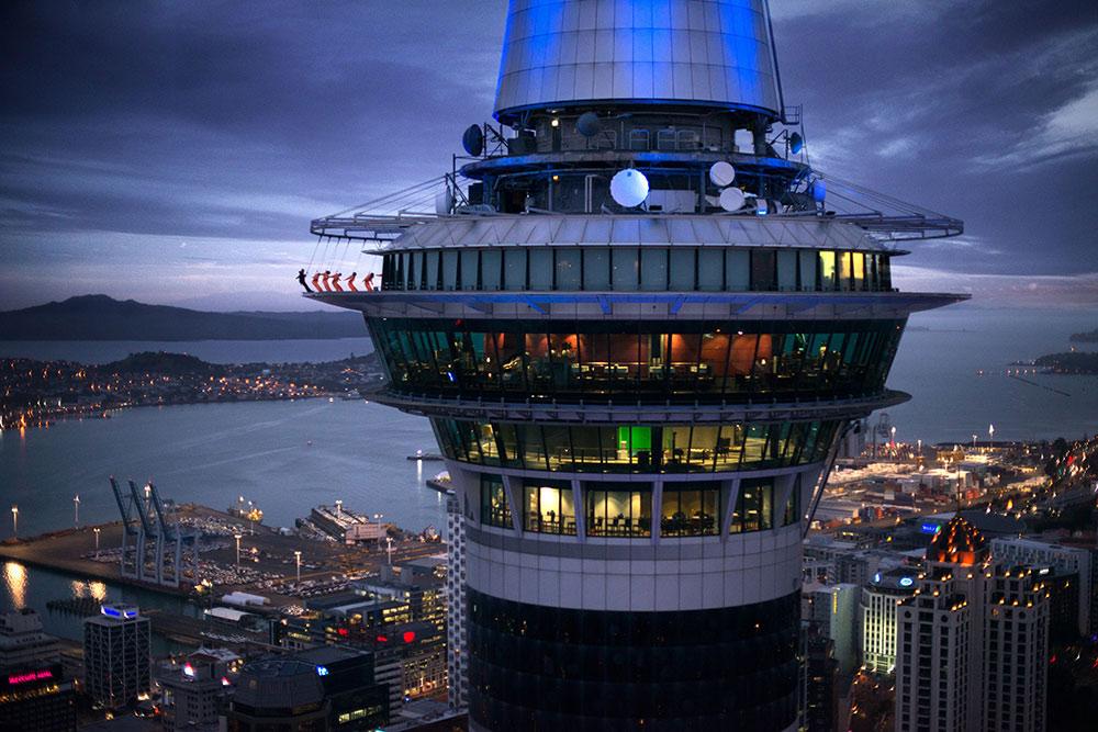 Auckland Sky Walk, Sky Tower, New Zealand