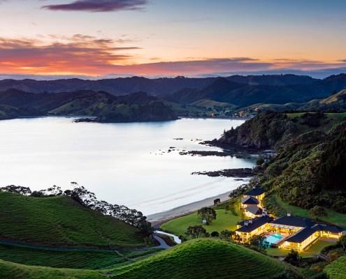 Helena Bay, luxury lodges, New Zealand