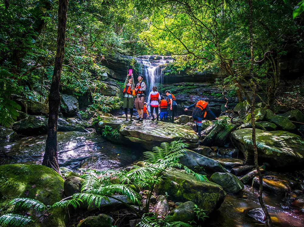 Okinawa, Japan, Kura waterfall