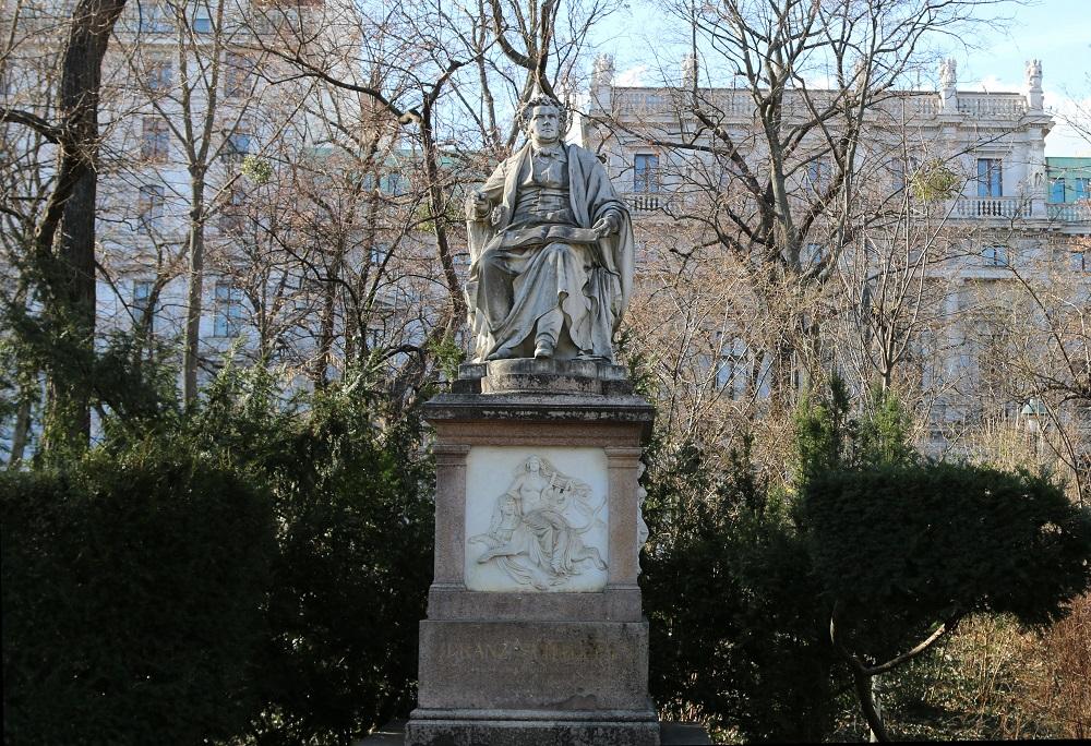 Austria, Vienna, Schubert statue