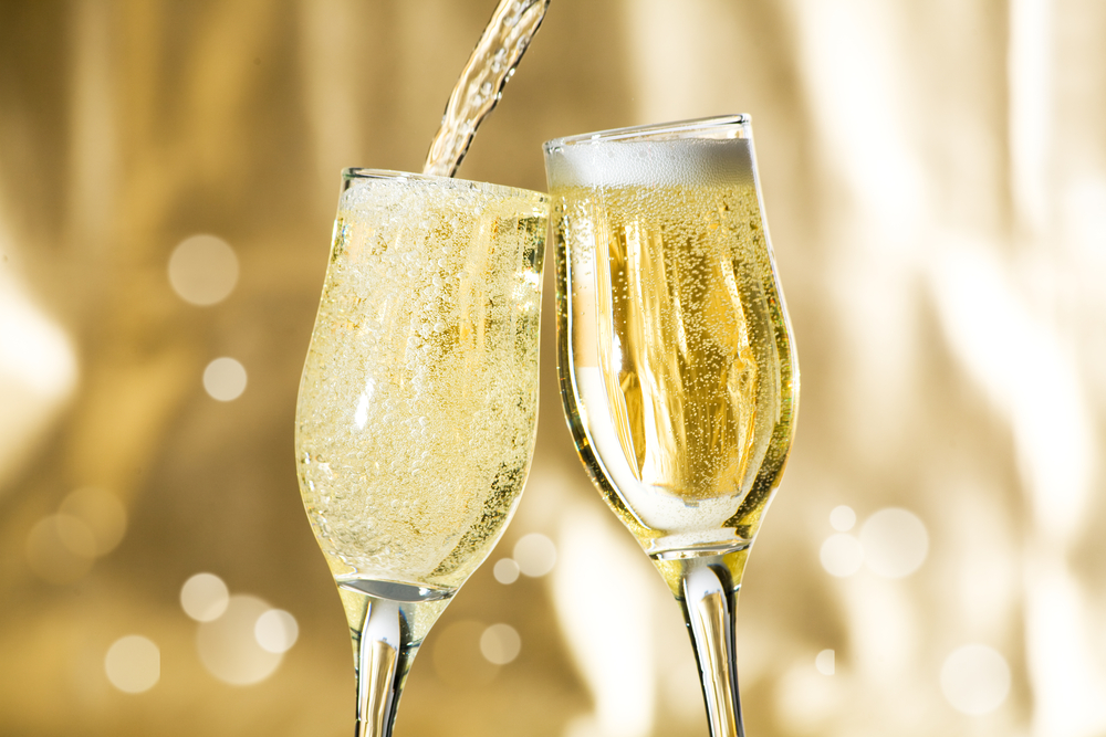 Where does the bubbles in sparkling wine come from?