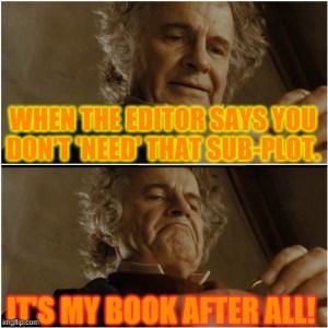 Bilbo meme 'It's my book after all!'