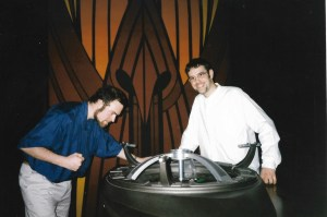 Dion and Phil at the Dabo wheel, DS9.