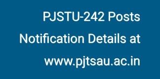PJSTU-242 Posts Notification Coming by next week at www.pjtsau.ac.in