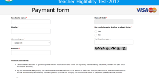 AP TET 2017 Needed documents list to Apply Online at @aptet.apcfss.in