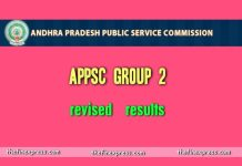 APPSC Group 2 Revised Results released at www.psc.ap.gov.in