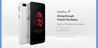 OnePlus 5T Star Wars Limited Edition launched in India