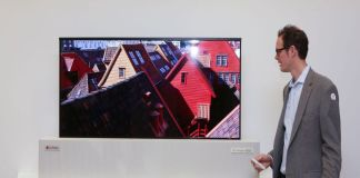 LG Display 65-Inch UHD Rollable OLED, TV