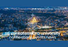SVU Assistant Professor 2018 Notification released last date February 2