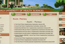 Kerala KUHS Pharmacy Results released at kuhs.ac.in
