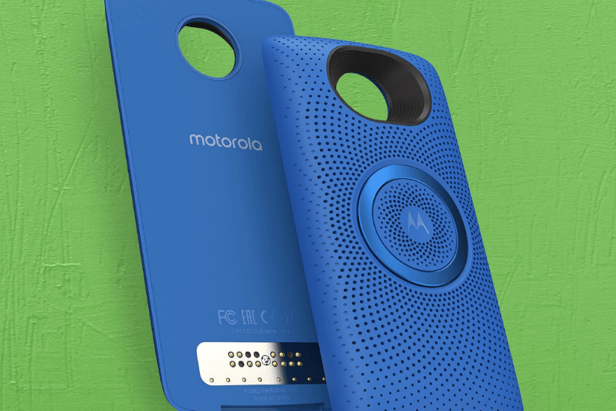 Motorola adds new Stereo Speaker to its Moto Mods line