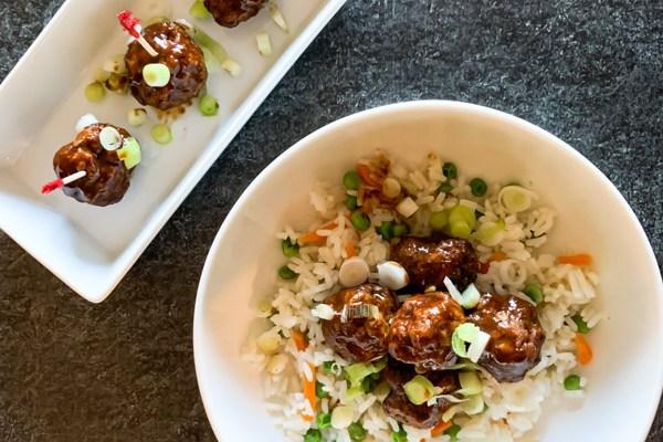 Asian Hoisin Meatballs