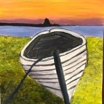 Sunset Canoe by Vanessa Hicks