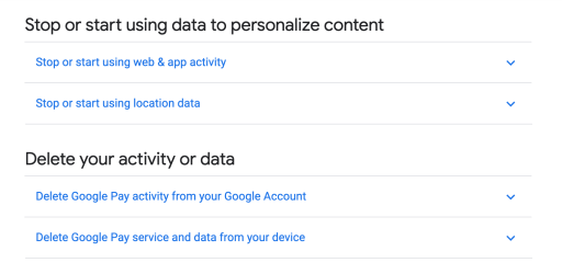 Google Pay Data