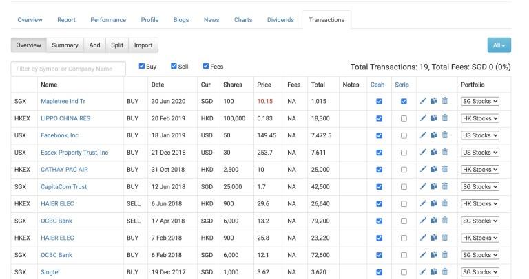 StocksCafe Transaction1 Overview