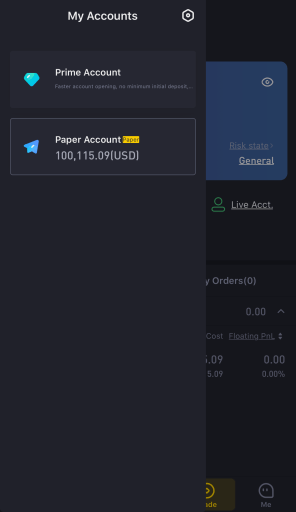 Tiger Broker Switch Between Prime and Paper Account 1