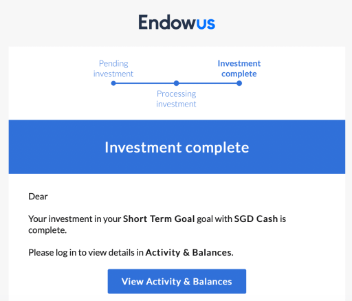 Endowus Email Update